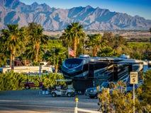 从尤马,亚利桑那的使人产生敬畏心的风景 库存照片