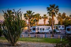 从尤马,亚利桑那的使人产生敬畏心的风景 免版税库存照片