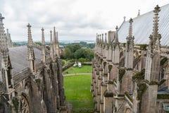 从屋顶的大教堂 免版税库存照片
