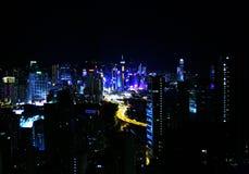 从屋顶的香港维多利亚公园视图 免版税图库摄影