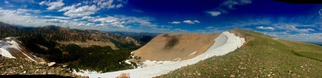 从山上面的全景视图 免版税库存图片