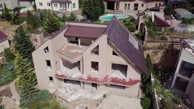 从山崩的后果的概略的看法的看法在Chernomorsk,乌克兰  影视素材