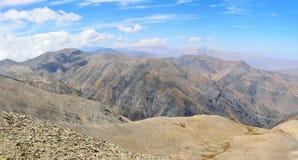 从山巴巴达格山顶的看法3629 m在阿塞拜疆 库存照片