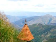 从山的上面的风景视图 库存图片