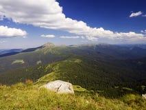 从山的视图 免版税库存照片