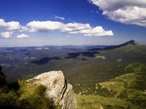 从山的视图 免版税图库摄影