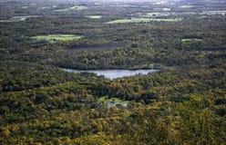 从山的阿里埃勒视图在纽约州 免版税库存照片
