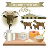 从山羊的乳制品 向量例证