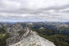 从山顶的视图 免版税库存照片