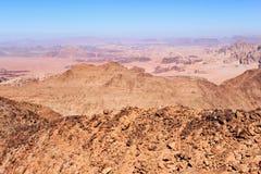 从山Jebel Adaami的全景 库存图片