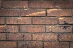 从工厂的一个老砖墙 免版税库存图片