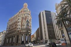 从巴伦西亚大厦的老Banck 免版税图库摄影