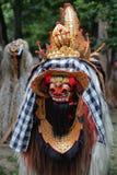 从巴厘岛印度尼西亚的五颜六色的Barong面具 库存图片