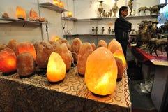 从巴基斯坦的岩盐闪亮指示 免版税库存照片