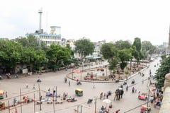 从巴德拉堡垒,艾哈迈达巴德-印度的城市视图 库存图片