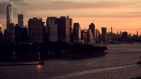 从布鲁克林采取的纽约地平线 影视素材
