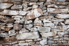 从希腊的被风化的石被绘的墙壁纹理 免版税库存图片