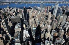 从帝国大厦的曼哈顿 图库摄影
