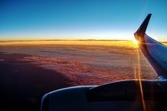 从平原的日落 库存照片