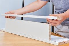 从平封半导体网络的聚集的家具使用螺纹木定缝销钉pi 免版税图库摄影