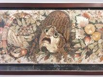 从庞贝城,曼博物馆,那不勒斯的马赛克 免版税库存图片