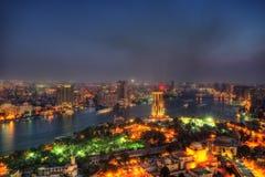 从开罗塔的开罗地平线 免版税库存图片