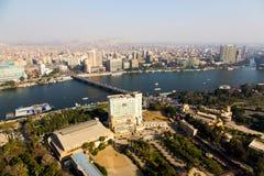 从开罗塔的开罗视图 库存图片