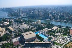 从开罗塔的阿里埃勒视图 免版税库存照片