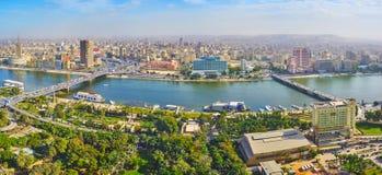 从开罗塔,埃及的街市 免版税库存照片