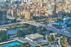 从开罗塔,埃及的顶端吉萨棉 库存照片
