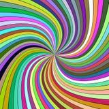从弯曲的光芒的五颜六色的荧光的抽象螺旋背景 向量例证