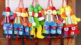 从意大利的木小丑玩偶 库存图片