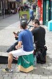 从戈尔韦爱尔兰的街道艺术家 免版税库存图片