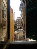 从我们的舱内甲板的看法在开罗埃及 免版税库存图片