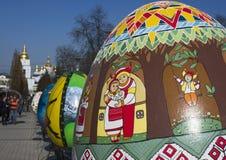 从所有乌克兰地区的手大师画家绘的复活节彩蛋 库存照片