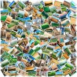 从托斯卡纳的许多照片 免版税库存图片