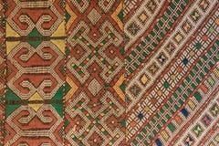 从摩洛哥样式细节东方设计的地毯 免版税图库摄影