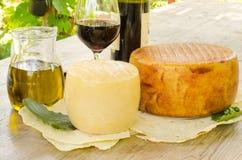 从撒丁岛的典型的食品 库存照片