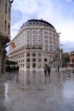从斯科普里中区,马其顿首都的看法 图库摄影