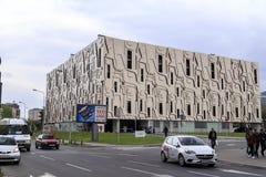 从斯科普里中区,马其顿首都的看法 免版税图库摄影