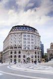 从斯科普里中区,马其顿首都的看法 免版税库存图片