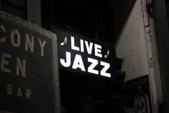 从新奥尔良的活爵士乐标志 库存照片
