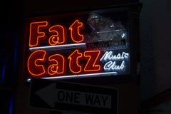 从新奥尔良的肥胖Catz标志 库存图片