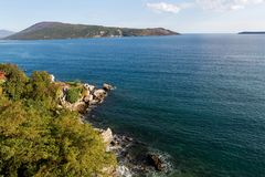 从新海尔采格堡垒的海视图  免版税库存照片