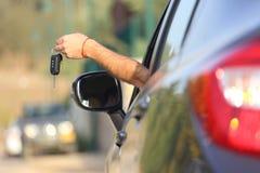 从新的汽车的钥匙 免版税库存图片