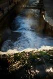从新阿丰,阿布哈兹上的瀑布 库存照片