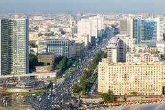 从旅馆乌克兰纳屋顶的看法  莫斯科 图库摄影