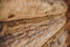 从日志的木墙壁 库存图片