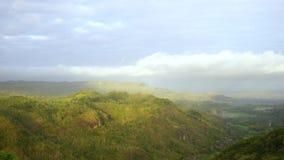 从日惹Panguk小山的美好的时间间隔视图 影视素材