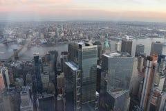 从日间上面的纽约视图 免版税库存图片
